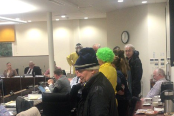 Campaigners arrested after heated council meeting