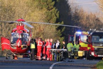 Crash victim 'critically ill'