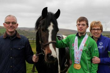 Warm welcome home for Omagh's world double gold medallist