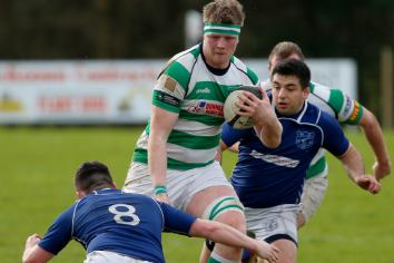 Omagh Accies record bonus point win but remain out of play-off places for now