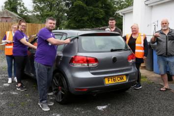 Trillick family's charity car wash raises £1,200 for mental health charity